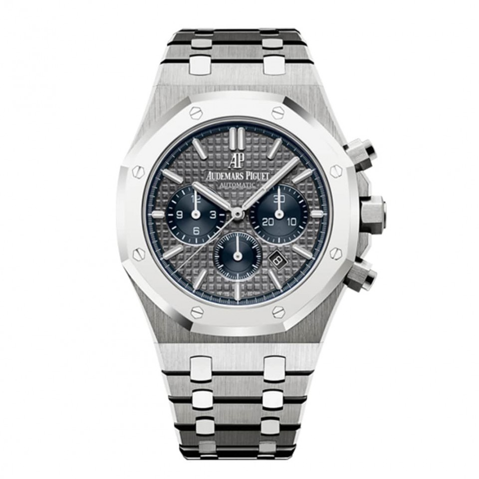 Audemars Piquet Royal Oak Chronograph Chrono Grey Blue Dial Special Edition