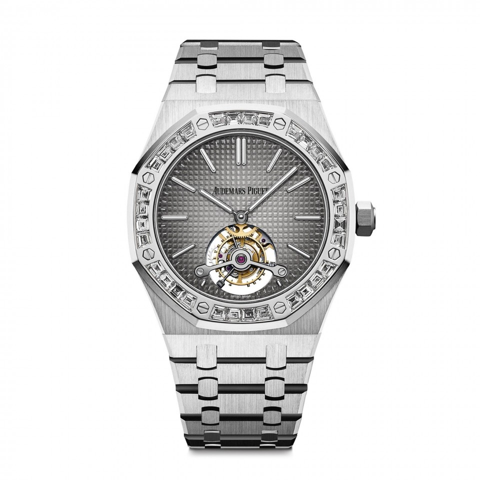 Audemars Piquet Royal Oak Tourbillon Platinum Diamond Bezel