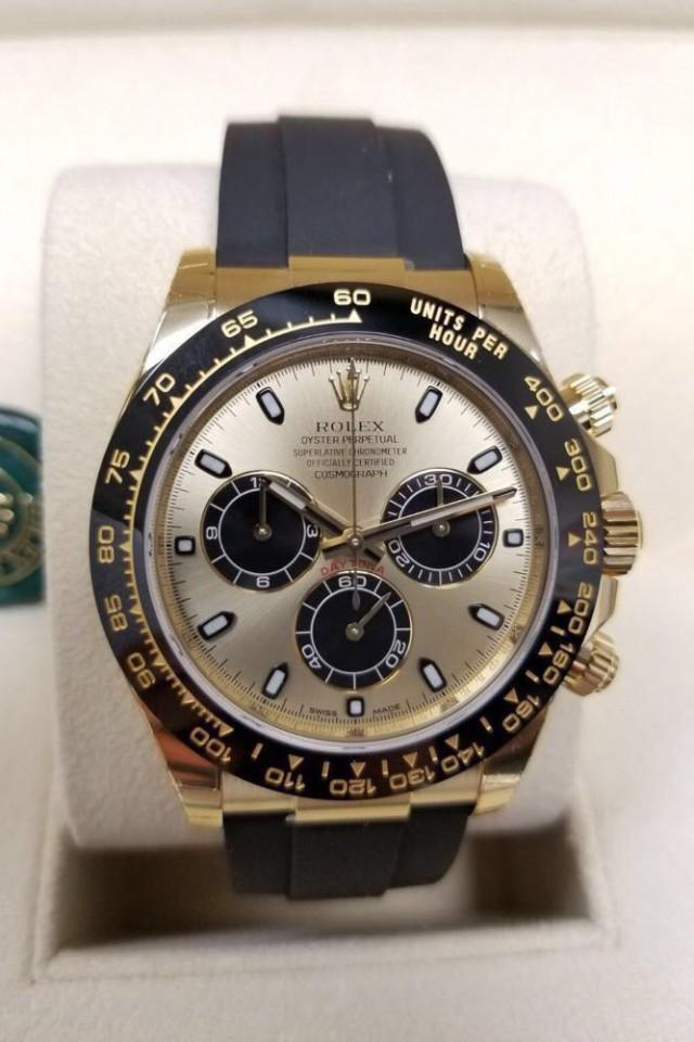 Rolex Cosmograph Daytona Champagne Dial Yellow Gold